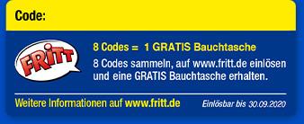 8 Codes = 1 gratis Snackbeutel